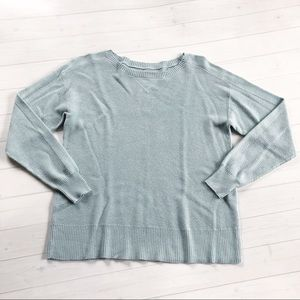 American Eagle Ice Blue Knit Sweater